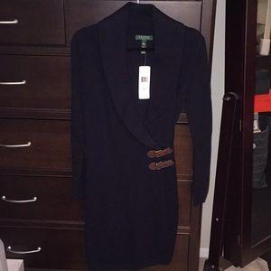 Ralph Lauren BNWT Navy wrap sweater dress!